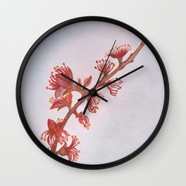 Almond Branch Wall Clock