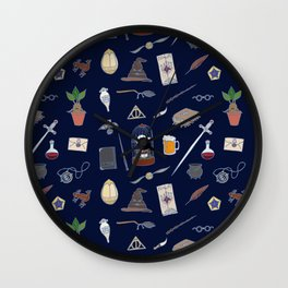 Harry Pattern Night Wall Clock