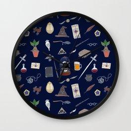 Harry Pattern Night Wall Clock