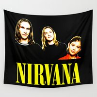 nirvana Wall Tapestries featuring Nirvana Band by Rothko