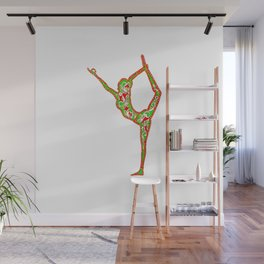 """yoga """"centred"""" Wall Mural"""