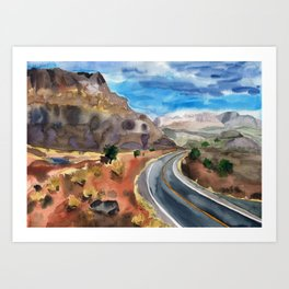 Road to the Canyon Art Print