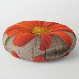 Rustic Orange Mexican Sunflower Floor Pillow