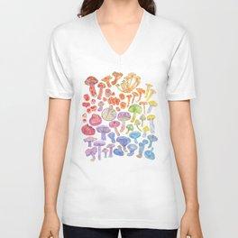 Wild Mushroom Rainbow Unisex V-Neck