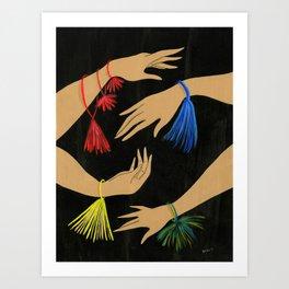 Tasseled Hands Art Print