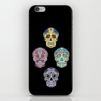 sugar skulls iPhone & iPod Skins featuring Sugar Skulls by katherinejago