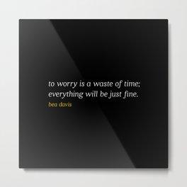 Bea Davis—Black Metal Print