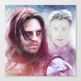 Winter Soldier - The Angel On My Shoulder (Steve and Bucky) Canvas Print