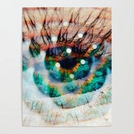 Green Eyes Hypnotize Poster