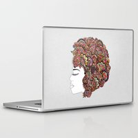 hair Laptop & iPad Skins featuring Her Hair - Les Fleur Edition by Bianca Green