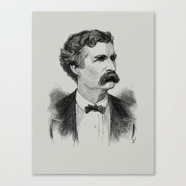 Mark Twain Engraved Portrait - 1870 Canvas Print