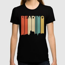 Retro 1970's Style Reading Pennsylvania Skyline T-shirt