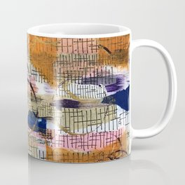 Sticks and Stones in Oranges and Blues Coffee Mug