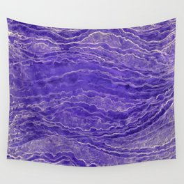 Violet watercolor marble Wall Tapestry