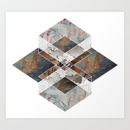 Geometric Collage Art Print