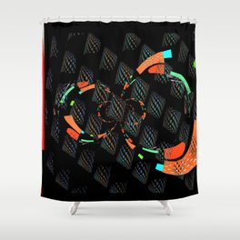 Fuera de Equilibrio Shower Curtain