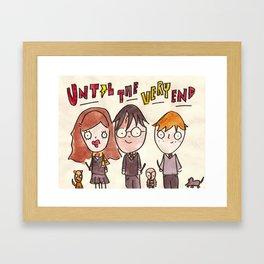 Until The Very End Framed Art Print