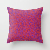 friday Throw Pillows featuring Friday by Bunyip Designs