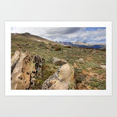 Rocky Mountain Tundra and Clouds Art Print