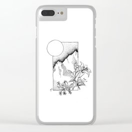 Lillies and Violets Clear iPhone Case