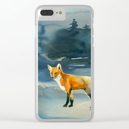 Winter forest 3 Clear iPhone Case