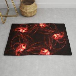 Red Lights | Fractal Art Rug