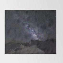 Milkyway at the mountains. Scorpius and Sagitarius Throw Blanket