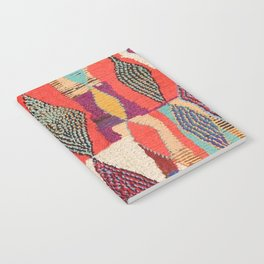 Moroccan rug pattern animal abstract modern Notebook