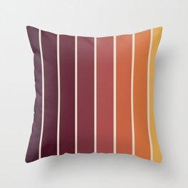 Gradient Arch - Sunset Throw Pillow