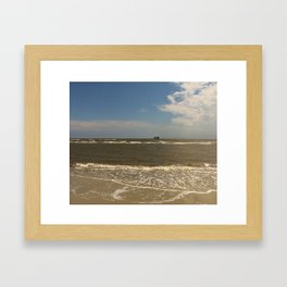 St Simons Island Beach Framed Art Print