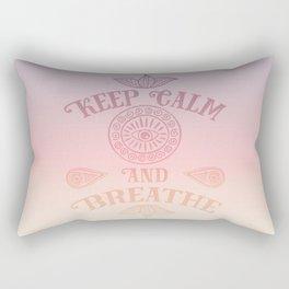Keep Calm And Breathe Rectangular Pillow