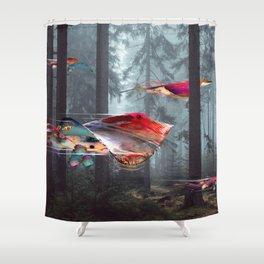 Electric Stingray World Shower Curtain