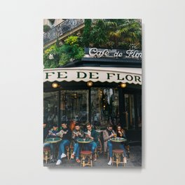 Paris Cafe VI Metal Print