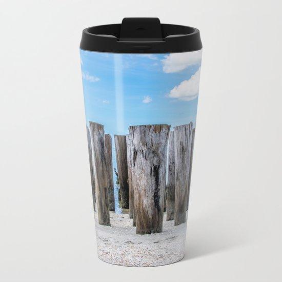 Pillar Beach Metal Travel Mug