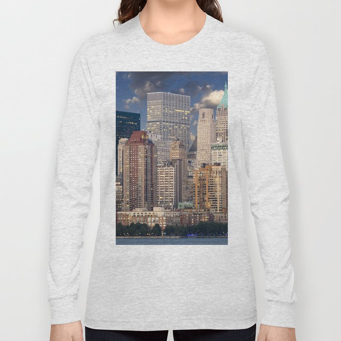 Downtown NYC at twilight Long Sleeve T-shirt