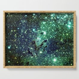 Green Eagle Nebula / Pillars of Creation Serving Tray