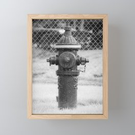 Eddy Valve Company Two Piece Barrel Fire Hydrant Waterford NY Fire Plug Framed Mini Art Print