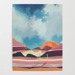 Pink Desert Glow Poster