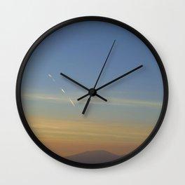 Sunset, Amalphi coast, Italy Wall Clock