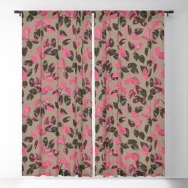 Philodendron Pink Princess Rare Tropical Houseplant Pattern Blackout Curtain