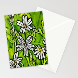 Fractal Stitchwort Stationery Cards