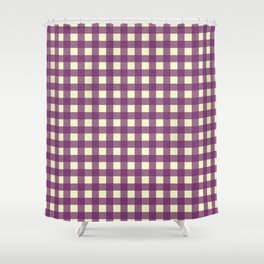 EGGPLANT CHECK Shower Curtain