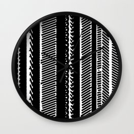 Black and white Lined Design Wall Clock