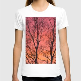 Tree Silhouttes Against The Sunset Sky #decor #society6 #homedecor T-shirt