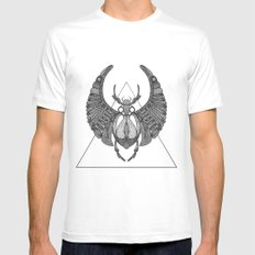 Scarab MEDIUM Mens Fitted Tee White