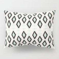 Bohemian Diamonds - Dark gray, light blue and cream pattern Pillow Sham