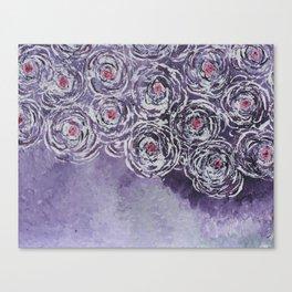 Art-ichoke in purple Canvas Print