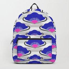 Royal Blue Deco Fans Backpack