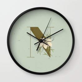 N for Nigella Wall Clock