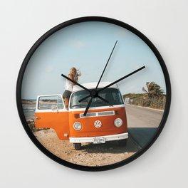 Combi van girl Wall Clock